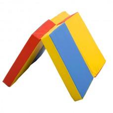 Гімнастичний складаний спортивний Мат П'ятнашки подвійний для залу та спортивного куточка вдома кожвініл 120х80х8см