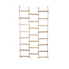 Мотузяна підвісна драбинка Ліана для дітей для Спортивних куточків і Шведських стінок з дерева 120х180 см