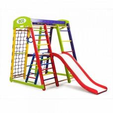 Детский спортивный комплекс-уголок для дома и квартиры, сетка, горка, кольца, рукоход 132х124х150 см АP 2