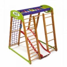 Детский спортивный Комплекс-уголок для дома и квартиры, сетка, горка, кольца, рукоход 132х124х150 см КP 1