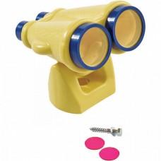 Игровой Бинокль для детей для открытой уличной площадки, поворотный, пластиковый, с креплением 17.5х21х17.5 см