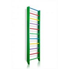Спортивная Шведская стенка деревянная для дома, квартиры 240х80 см разноцветная - 0-240 (green)