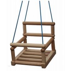 Деревянные подвесные Качели из бука с перекладиной для детей, для дома и дачи, нагрузка до 80 кг 100х40х15 см