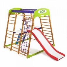 Детский спортивный Комплекс-уголок для дома и квартиры: столик, сетка, горка Волна, кольца 132х124х130 см КP 2