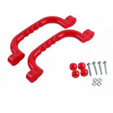 Ручки пластиковые для детских открытых уличных площадок, для перил и выхода на горку, цветные, комплект 2 шт