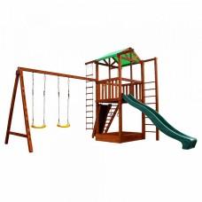 Детский игровой комплекс спортивный деревянный, площадка детская, горка, качели и песочница 440х380х320 см