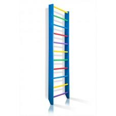 Спортивная Шведская стенка деревянная для дома, квартиры, зала 220х80 см разноцветная - 0-220 (blue)