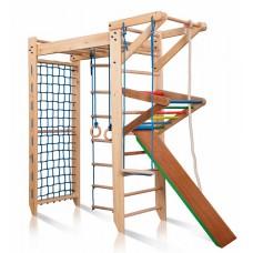 Детский Спортивный комплекс-уголок: шведская стенка с рукоходом и гладиаторская сетка 230х80х220 см S5-220
