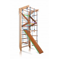 Детская шведская спортивная стенка, спортивный комплекс уголок, турник-рукоход, кольца, лестница, 240х80 см K3-240 47889-19 ks-Kinder 3-240