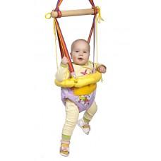 Детские Прыгунки с обручем Тарзанка Качели с креплением, из эко-материалов для детей от 3 месяцев 180-260см 47949-19 ks-Прыгунки -3