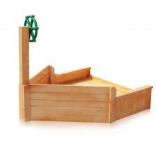 Пристройка Кораблик из дерева для детских песочниц на даче или игровых уличных площадках из сосны 130х120 см
