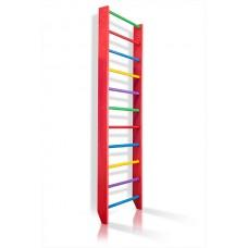 Спортивная Шведская стенка деревянная для дома, зала, квартиры 220х80 см разноцветная - 0-220 (barby)