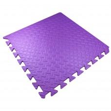 Детский Коврик-Мат Малыш мягкий пол для спортивных уголков дома, в детских садах, EVA, фиолетовый 51х51х1см