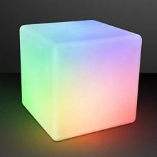 Световое решение для сенсорной комнаты: Мебельный светящийся LED Куб с пультом управления, до 70 кг, 40х40 см
