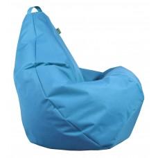 Бескаркасное Кресло-Груша со съемным чехлом из ткани Оксфорд 600D и ручкой для переноски, цвет голубой 90х60см