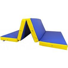 Гимнастический Складной Мат для спортивных залов или домашних тренировок со съемным чехлом 200х100х10 см