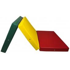 Гимнастический Складной Мат для спортивных залов или домашних тренировок с ручкой для переноски 200х100х10 см