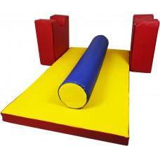 Мягкий игровой модульный конструктор Блок-11 для детей с 3 элементами из геометрических фигур для дома, дачи