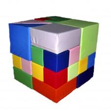 Мягкий яркий Модульный Конструктор Кубик Рубика, 28 геометрических элементов для дома, игровых центров, школ