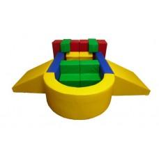 Мягкий Игровой модуль-трансформер Звездолет для детей от 1 года для дома, игровых центров, детсадов, 13 элем.