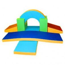 Мягкий спортивно-игровой тренажер из 7 элементов для детей от 1 года для квартиры, детского сада Мостик