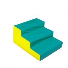 Мягкий спортивный игровой тренажер для детей от 2-х лет для физической активности Ступени, 3 шага 60х60х50 см