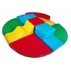 Мягкий игровой модульный конструктор для детей с 9 элементами из геометрических фигур для дома, дачи Блок-9