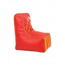 Бескаркасное детское Кресло-мешок Бабочка со съемным чехлом, плотная набивка, красный, высота спинки 77 см
