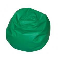 Мягкое Бескаркасное Кресло-мяч со съемным тканевым чехлом и ручкой для переноски, зеленый D=65 см, H=40 см