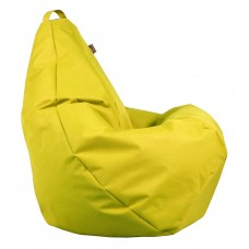 Бескаркасное Кресло-Груша со съемным чехлом из ткани Оксфорд 600D и ручкой для переноски, цвет желтый 90х60 см