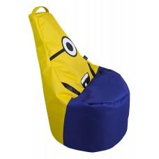 Бескаркасное Кресло-мешок Миньон со съемным чехлом и ручкой для переноски, наполнитель пенополистирол D=80 см