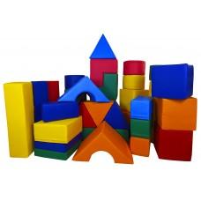 Детский Игровой Мягкий модульный Конструктор для детей от 1 года для дома, игровых центров, детсадов, 36 фигур