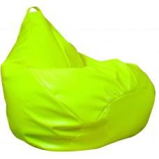 Бескаркасное Кресло-Груша Фреш со съемным чехлом из гипоаллергенной экокожи, с ручкой, цвет лимон 90х60 см