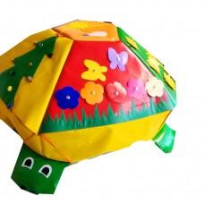 Игровой дидактический модуль для детей с аппликациями и заданиями Черепаха в ассортименте 100х130х40 см