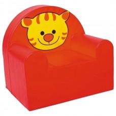Мягкое яркое игровое кресло для детей от 1 до 10 лет с рисунком для квартиры, дачи или школы Тигр 60х65х60 см
