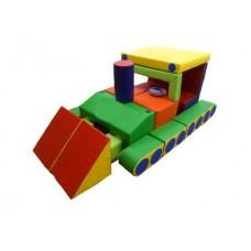 Детский Спортивно-игровой разборный Модуль-трансформер Бульдозер из 20 мягких элементов со съемным чехлом