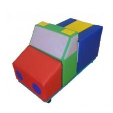 Мягкий развивающий игровой модуль-трансформер для детей от 1 года разборный для квартиры Фургон 80х40х45 см