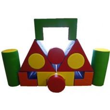 Мягкий Модульный Конструктор МАХ для детей от 1 года, 13 геометрических фигур для дома, игровых центров, школ