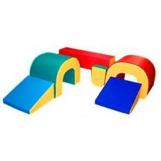 Мягкий спортивно-игровой тренажер из 7 элементов для детей от 1 года для квартиры, детского сада,дачи Верхолаз