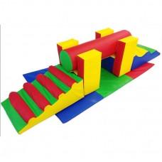 Мягкий спортивный игровой модуль для детей от 1 года из 6 элементов разборный для квартиры, дома Переправа