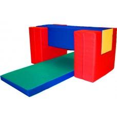 Мягкий спортивно-игровой Тренажер Лазилка для детей от 1 года для дома, игровых центров, детсадов, 4 элемента