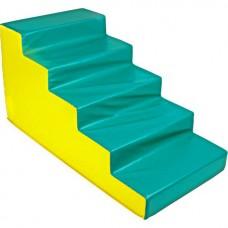 Мягкий спортивный игровой тренажер для детей от 2-х лет для физической активности Ступени 5 шагов 120х60х60 см