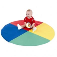 Детский игровой круглый Мат-Коврик Солнышко для развивающих занятий для детей любого возраста D=120 см, H=3 см