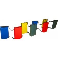 Игровой мягкий модуль для сенсорной комнаты балансировочный путь для детей от 3 до 10 лет Ступеньки 40х20х8 см