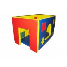 Мягкий игровой Модуль-трансформер Домик Мини для детей от 1 года для дома, игровых центров, детсада 90х60х60см