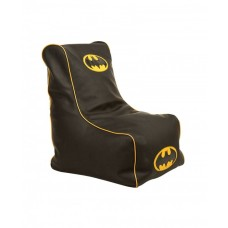 Бескаркасное детское Кресло-мешок Бетмен со съемным чехлом, плотная набивка, красный, высота спинки 77 см