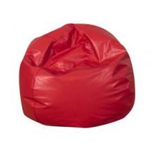 Мягкое Бескаркасное Кресло-мяч со съемным тканевым чехлом и ручкой для переноски, красный D=65 см, H=40 см