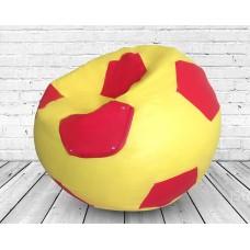 Мягкое Бескаркасное Кресло-мешок Футбольный мяч со съемным чехлом из водоотталкивающей ткани Оксфорд, D=110 см