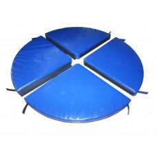Гимнастический круглый Мат для пилона Pole Dаnce Грация-4 из 4 секций на липучке, съемный чехол 140х140х10 см