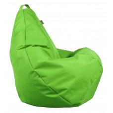 Бескаркасное Кресло-Груша со съемным чехлом из ткани Оксфорд 600D и ручкой для переноски, цвет зеленый 90х60см